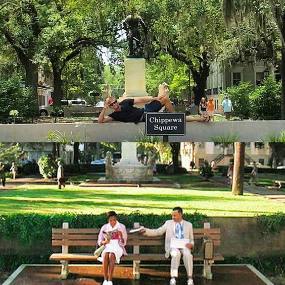 Forrest Gump Park Bench