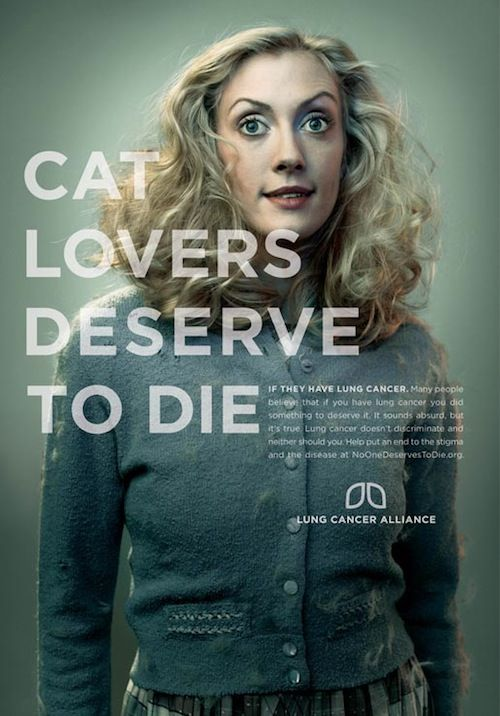 In a provocative ad campaign for non-profit organisation ...