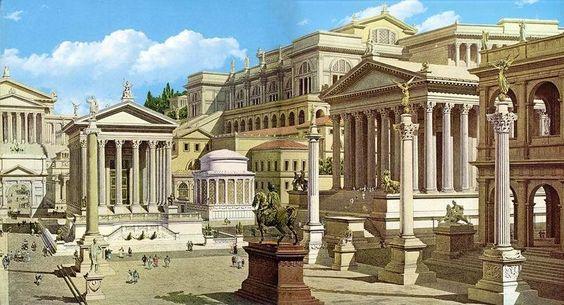 Artist's reconstruction of the Forum Romanum   immagini ...