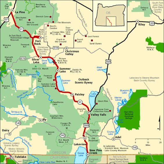 River Gorge Byway Scenic Map Columbia