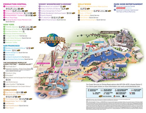 Universal Studios Florida 1990 Map