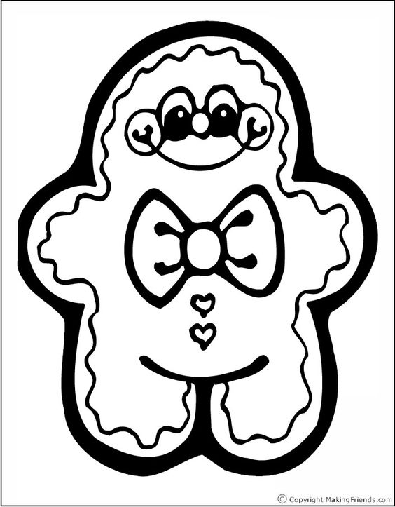 Gingerbread Man Coloring Page | Christmas | Pinterest ...