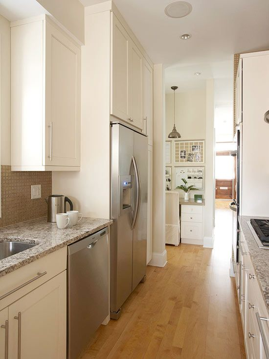 Refrigerators Small Galley Kitchens