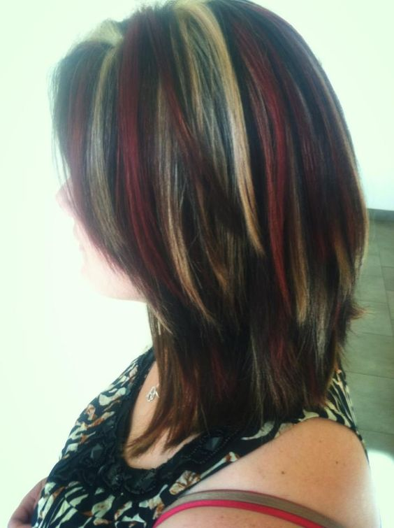 Clarkson Red And Highlights Kelly Hair Blonde Brown