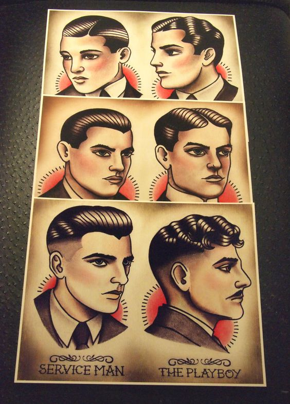 Vintage Barber Hairstyle Guide