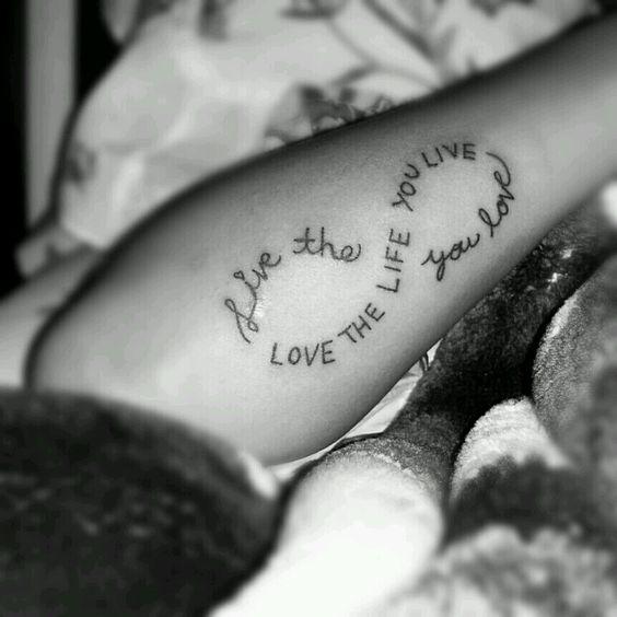 Life Infinity Symbol Live Love Live Life You Live Tattoos You