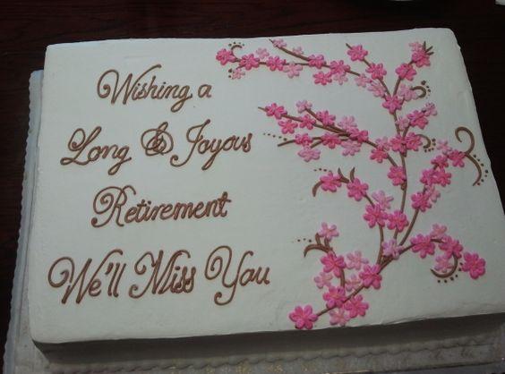 Wording Cake Retirement Wishes