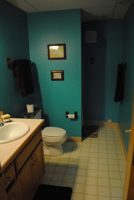 Accessories And Brown Bathroom Teal