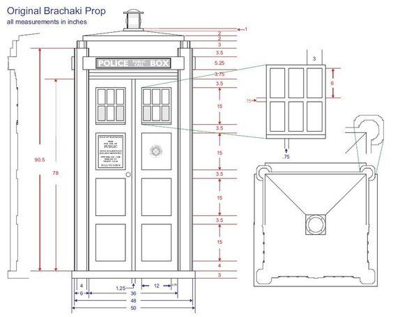 Blueprints Size Tardis Life