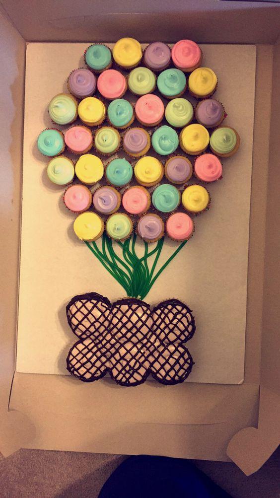 Balloon Cupcake Cake