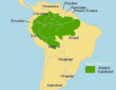 Amazon Rainforest Map | Around the World Adventures ...