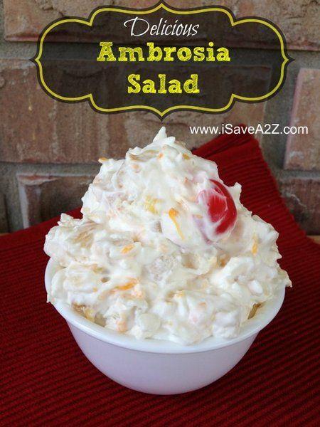Fruit Ambrosia Salad Pudding