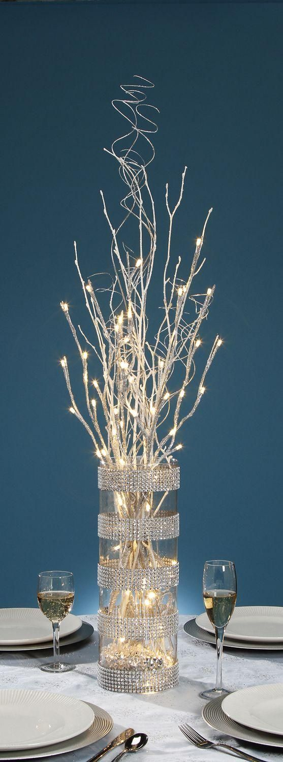 Lighted Twigs Home Decorating