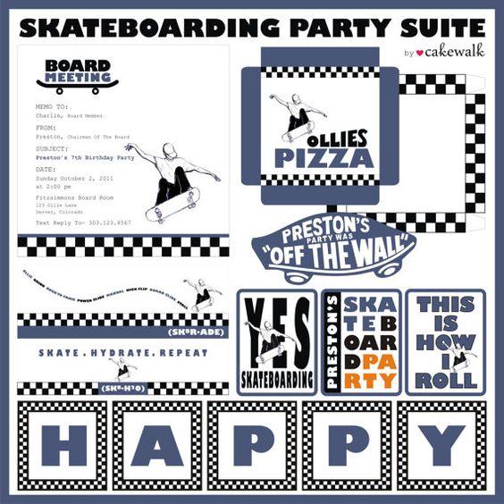 Skate Vintage Invitations Party Roller
