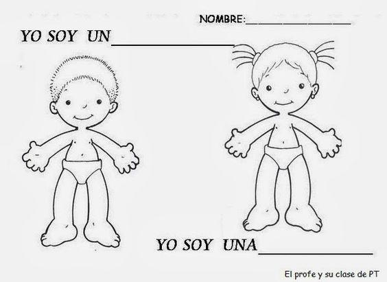 Dibujos La De Nino Cuerpo Y Nina De Silueta Del