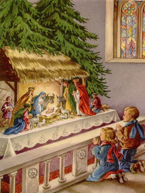 Christ, Vintage christmas and Vintage christmas cards on ...