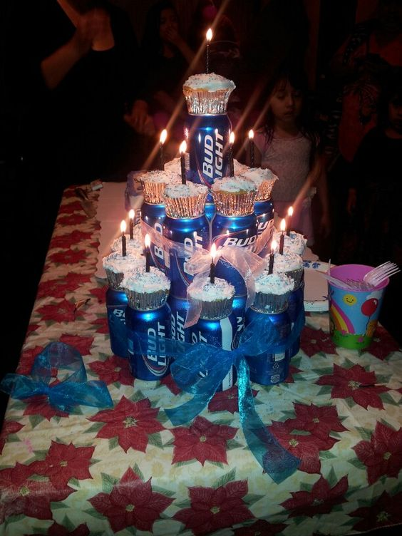 Boyfriend S 21st Birthday Beer Can Cake Cool Beans