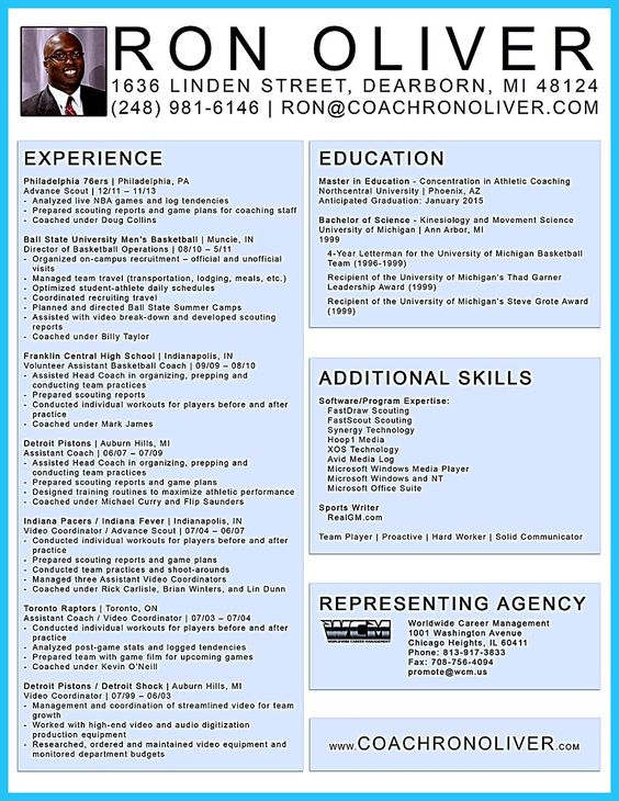 Resume For High School Football Coach