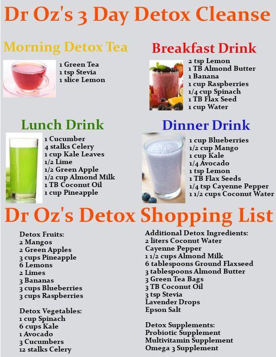Detox Cleanse Dr 3 Day Oz