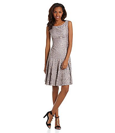 Js Collections Dropwaist Lace Fitandflare Dress Dillards