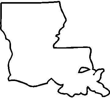Louisiana outline! Will add a heart when I paint my cooler ...