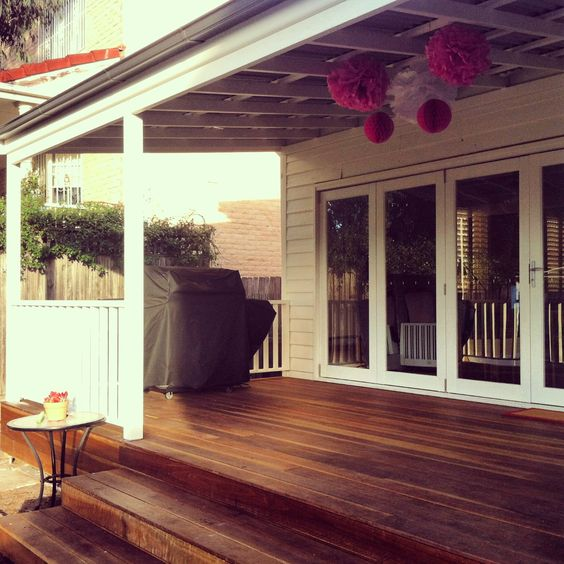 Spotted Gum 140mm Wide Board Deck With 3m Wide Step
