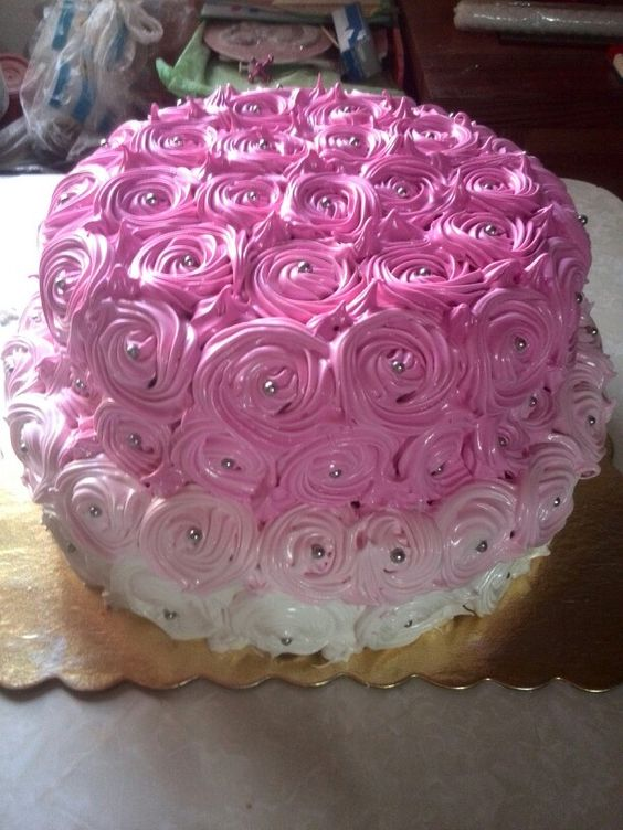Torta Con Rosas De Merengue Dulce Tortura Pinterest