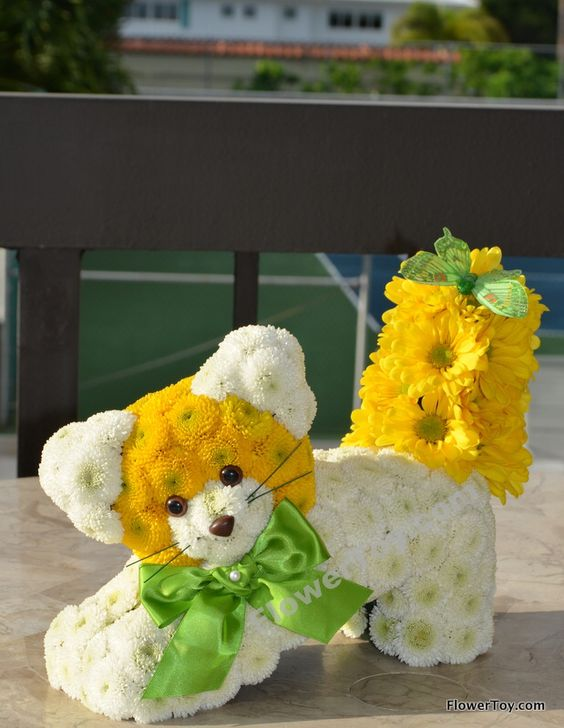 Puppy Flower Carnation Arrangements