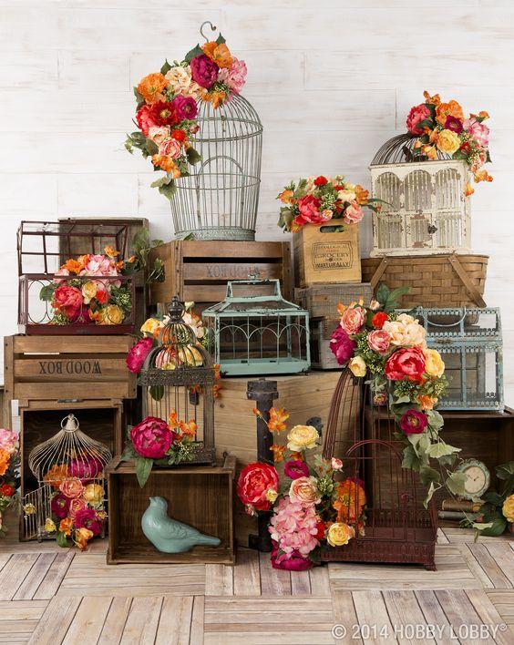 Bird Fall Ideas Decorating Cage