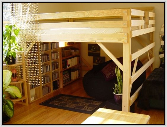 Bed With Desk Underneath Queen Loft Beds And Loft Beds On
