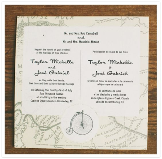 Two Language Wedding Invitations