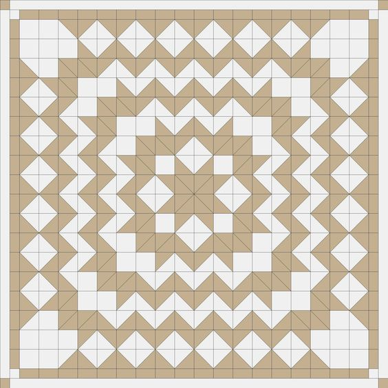 Block Carpenters Wheel Pattern Quilt