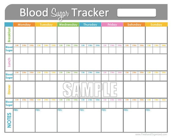 diabetes blood sugar log template
