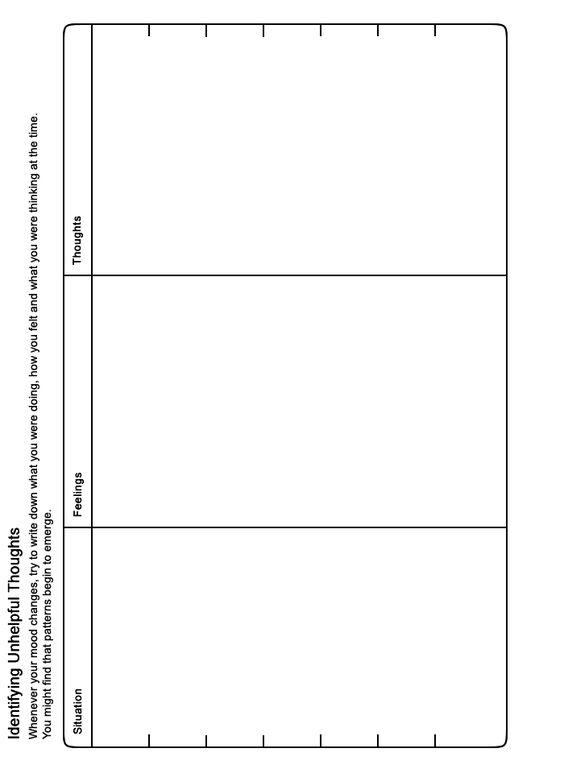 Thinking Errors Worksheet Substance Abuse