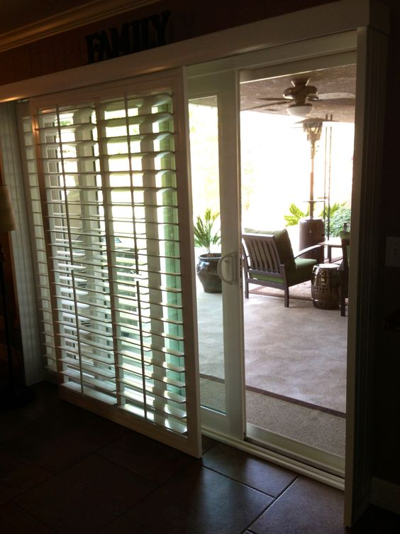 Shutters For Sliding Glass Doors No More Ugly Vertical