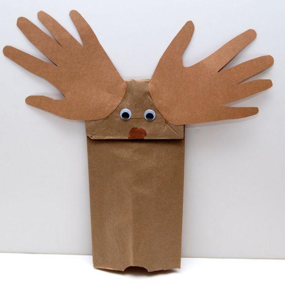 Bag Brown Bear Puppet
