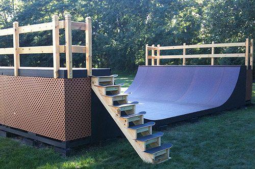 Back Yard Bmx Mini Ramp Build