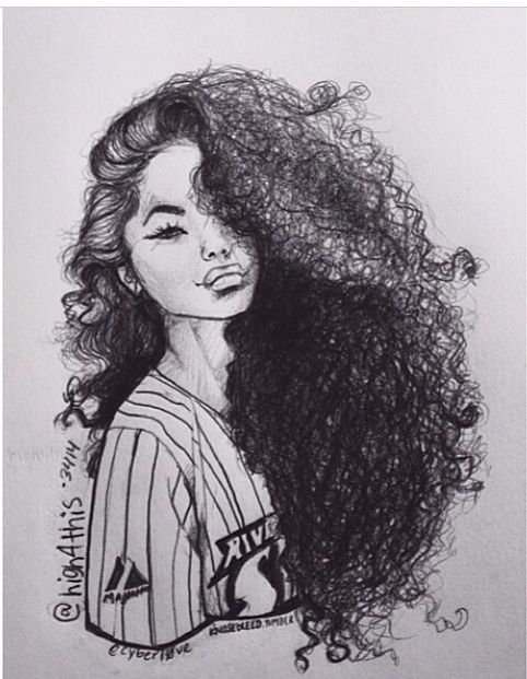 Dope Mixed Natural Cartoon Girl