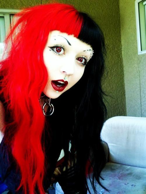I Sometimes Miss Having Half Black Half Red Hair Half