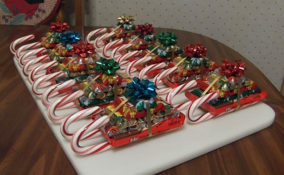 Sleigh Made Candy Canes And Candy Bars