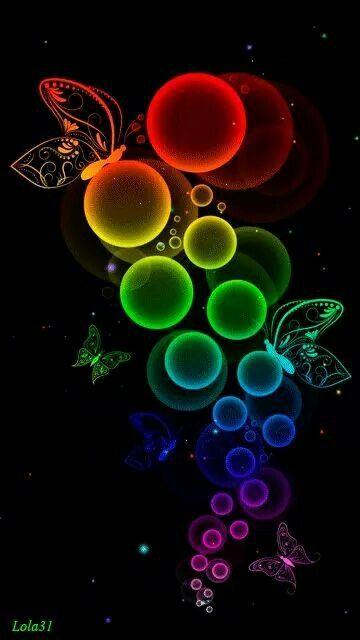 Butterflies Neon Glitter Animated