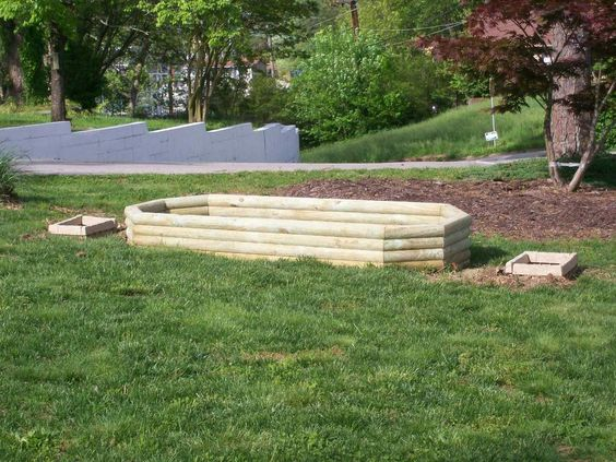 Raised Garden Landscape Timbers