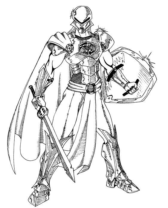 Female Samurai Armor Drawing