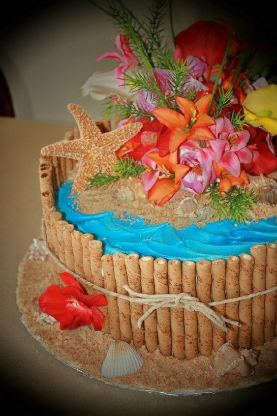 Simple Luau Birthday Cakes