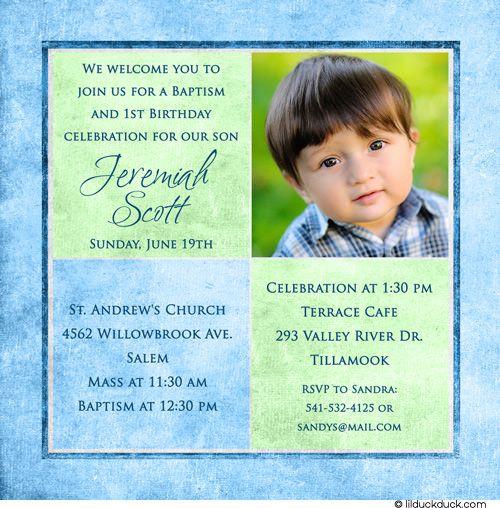Sample Baptismal Invitation