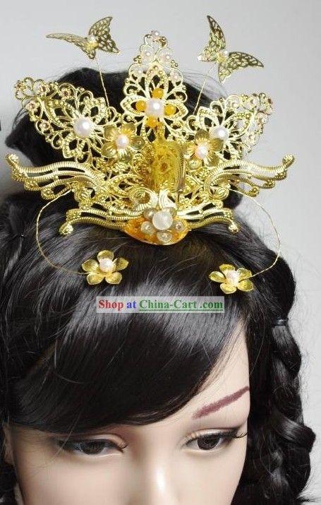 Chinese Classical Handmade Wedding Phoenix Hair ...