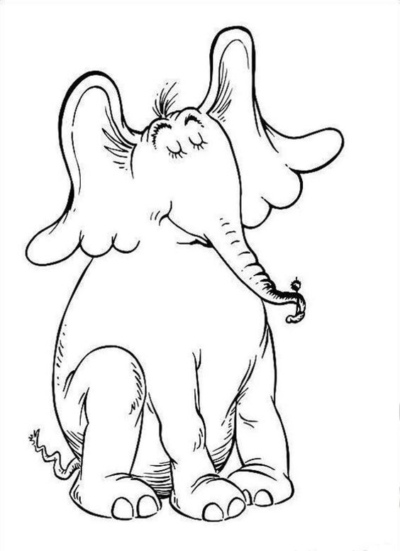 Dr Seuss Horton Hears Who Coloring Pages