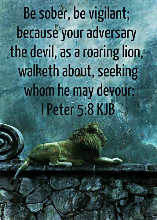 Be sober, be vigilant; because your adversary the devil ...