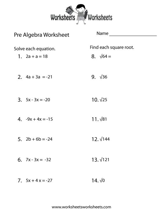 Expressions And Equations Worksheet 7th Grade