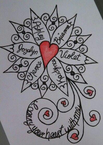 Cross Tattoo Grandkids Names